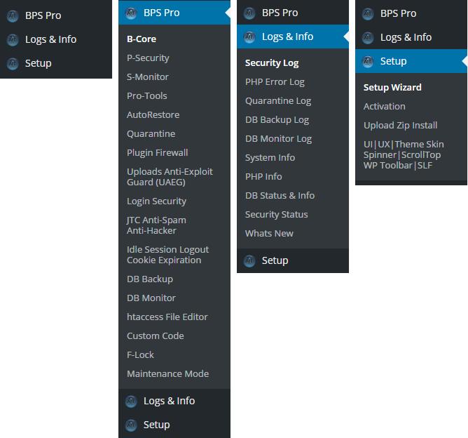 BPS Pro 11.1 Menu