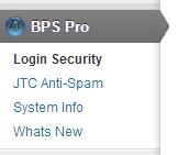 BulletProof Security Pro Multisite Subsite Menus